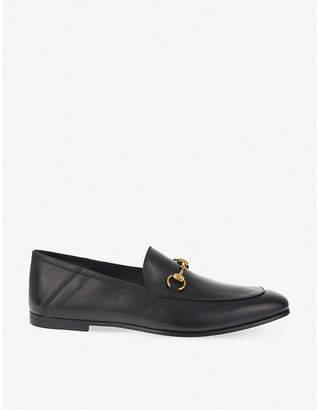 Gucci Brixton leather slide moccasins