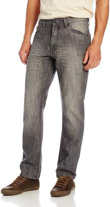 Southpole Men's 6181 Regular Straight Fit Shiny Streaky In, Grey S&, 38X32