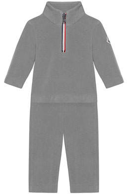 Moncler Half-Zip Pullover w/ Matching Sweatpants, Size 6M-3
