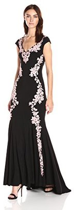 Betsy & Adam Women's Long Ity Lace Ilus Back $299 thestylecure.com