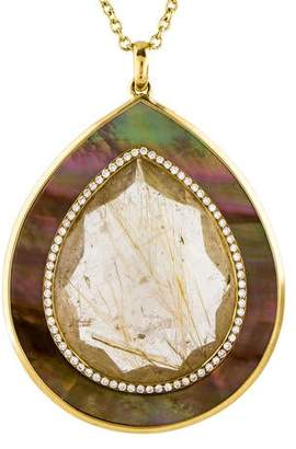 Ippolita 18K Rutilated Quartz & Diamond Ondine Pendant Necklace