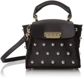 Zac Posen Eartha Iconic Top Handle Mini - satin bubbles Convertible Top Handle Bag