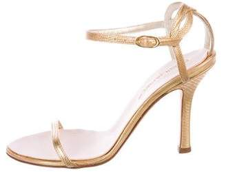 DSQUARED2 Embossed Ankle Strap Sandals