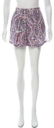 Rebecca Taylor Silk Floral Print Shorts