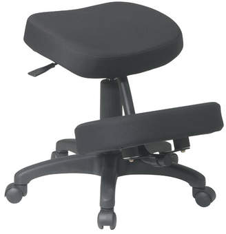 Office Star Ergonomically Height Adjustable Kneeling Chair with Dual Wheel
