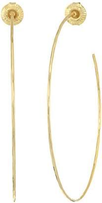 Robert Lee Morris Women's Large Hammered Wire Hoop Earrings