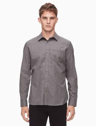 Calvin Klein slim fit brushed flannel solid shirt