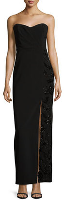 Parker Strapless Beaded Sweetheart Column Gown, Black $495 thestylecure.com