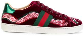 Gucci Ace velvet sneakers