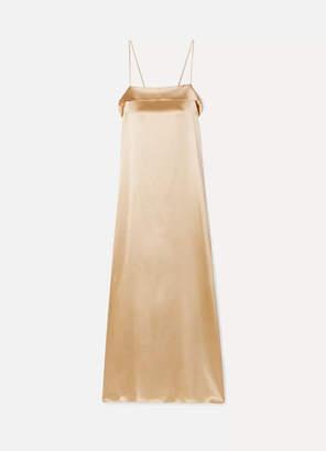Deitas Coco Silk-charmeuse Maxi Dress