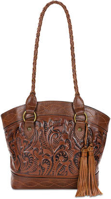 Patricia Nash Zorita Burnished Tooled Leather Shoulder Bag