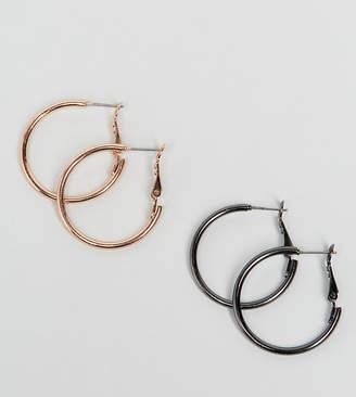 Asos Pack Of 2 Simple Hoop Earrings