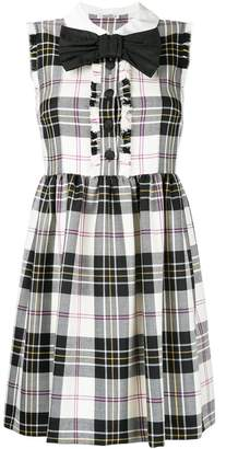 Miu Miu plaid gathered dress