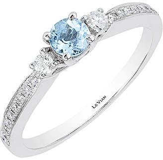 LeVian Le Vian 14K 0.41 Ct. Tw. Diamond & Aquamarine Ring