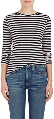 Barneys New York Women's Striped Cotton Long-Sleeve T-Shirt
