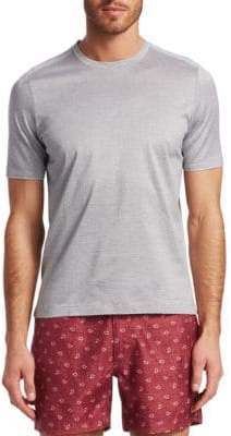 Saks Fifth Avenue MODERN Jacquard Crewneck Cotton Tee