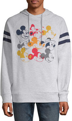 Novelty Licensed Mickey Mouse Color Head Graphic Hoodie