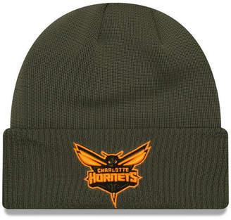 New Era Charlotte Hornets Tip Pop Cuffed Knit Hat