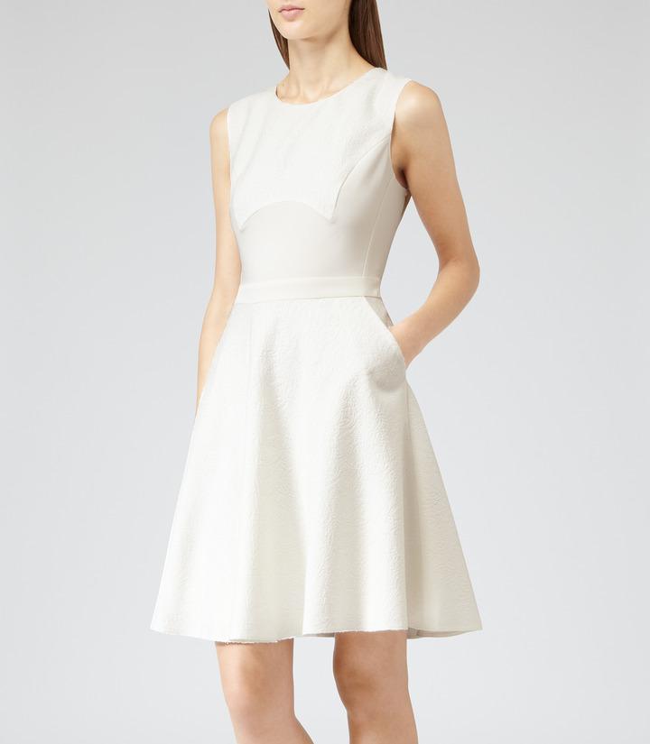 Reiss Natalie OPEN BACK FLARED DRESS
