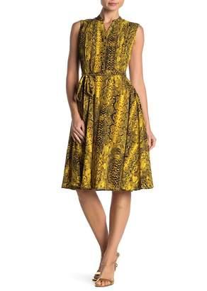 Nanette Lepore NANETTE Sleeveless Pintuck Pleat Midi Dress
