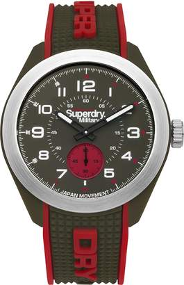 Superdry Men's 'Navigator Military' Quartz Plastic and Silicone Casual Watch, Color: (Model: SYG214N)