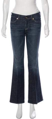 7 for all Mankind Mid-Rise Wide-Leg Denim