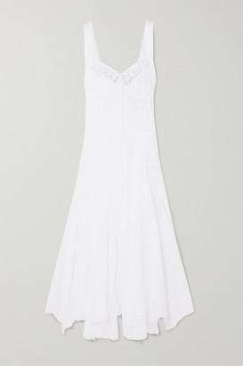 Charo Ruiz Ibiza Heart Crocheted Lace-paneled Cotton-blend Voile Dress - White