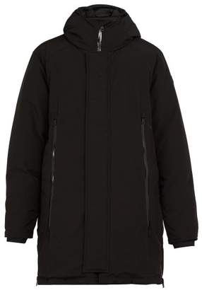 Moncler Crepel Hooded Quilted Down Parka - Mens - Black