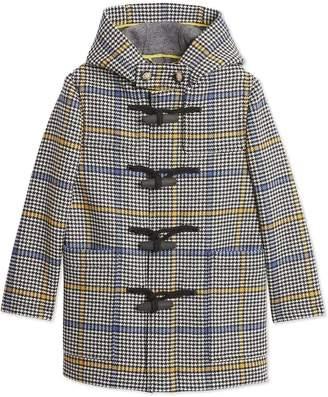 Burberry TEEN Houndstooth Check Duffle Coat