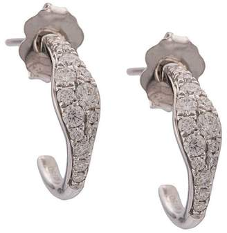 Sara Weinstock 18kt white gold Huggy diamond earrings