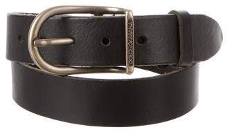 Dolce & Gabbana Metal Buckle Leather Belt