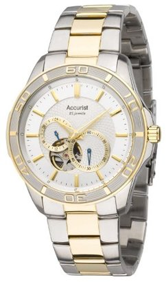 Accurist Pure Precision Men 's Automatic Watch with Silver DialアナログDisplay and MulticolourステンレススチールPlatedブレスレットmb911s