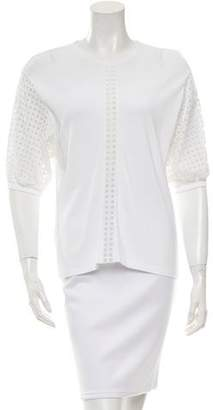 Andrew Gn Eyelet-Trimmed Top