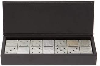 Versace Leather And Ceramic Domino Set - Black
