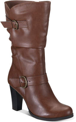 Style&Co. Style & Co Sachi Block-Heel Mid-Shaft Wide Calf Boots, Women Shoes