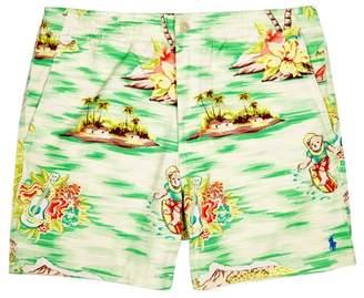 Polo Ralph Lauren Palm Tree-print Stretch-cotton Shorts