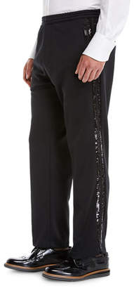 DSQUARED2 Metallic Side-Striped Track Pants