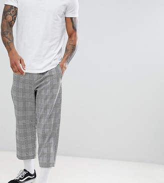 Reclaimed Vintage inspired relaxed crop PANTS in check
