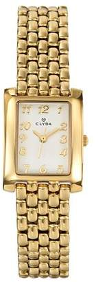 Clyda CLV0007PAAX Women's Analog Quartz Fashion Watch with Cream Dial and Plated Bracelet