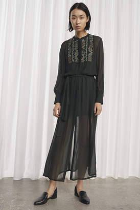 French Connection Donna Sheer Embroidered Maxi Dress