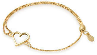 Alex and Ani Heart Pull-Chain Bracelet, Gold
