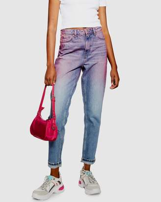 Topshop Ombre Mom Jeans
