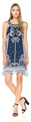Max Studio Women's Printed Trapeze Dress