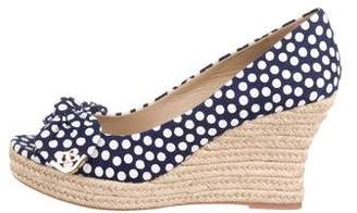 Tory Burch Peep-Toe Espadrille Wedges w/ Tags