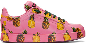 Dolce & Gabbana Pink Pineapple Sneakers $875 thestylecure.com