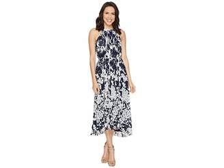 Donna Morgan Chiffon Pleated Midi Dress Women's Dress