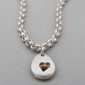 Neve Latham & Pebble Heart Chain Necklace