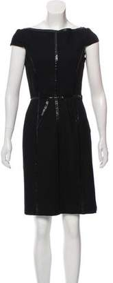 Prada Wool Cap-Sleeve Dress