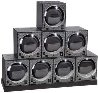 Diplomat 31-403/8 Boxy Octuple Package Programmed Carbon Fiber Eight Brick Stacked on Power Extend Station Watch Winder