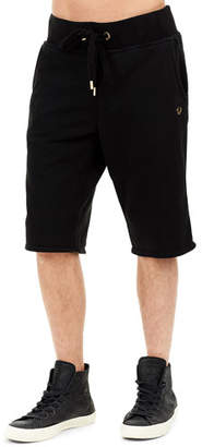 True Religion Solid Cotton Sweat Shorts